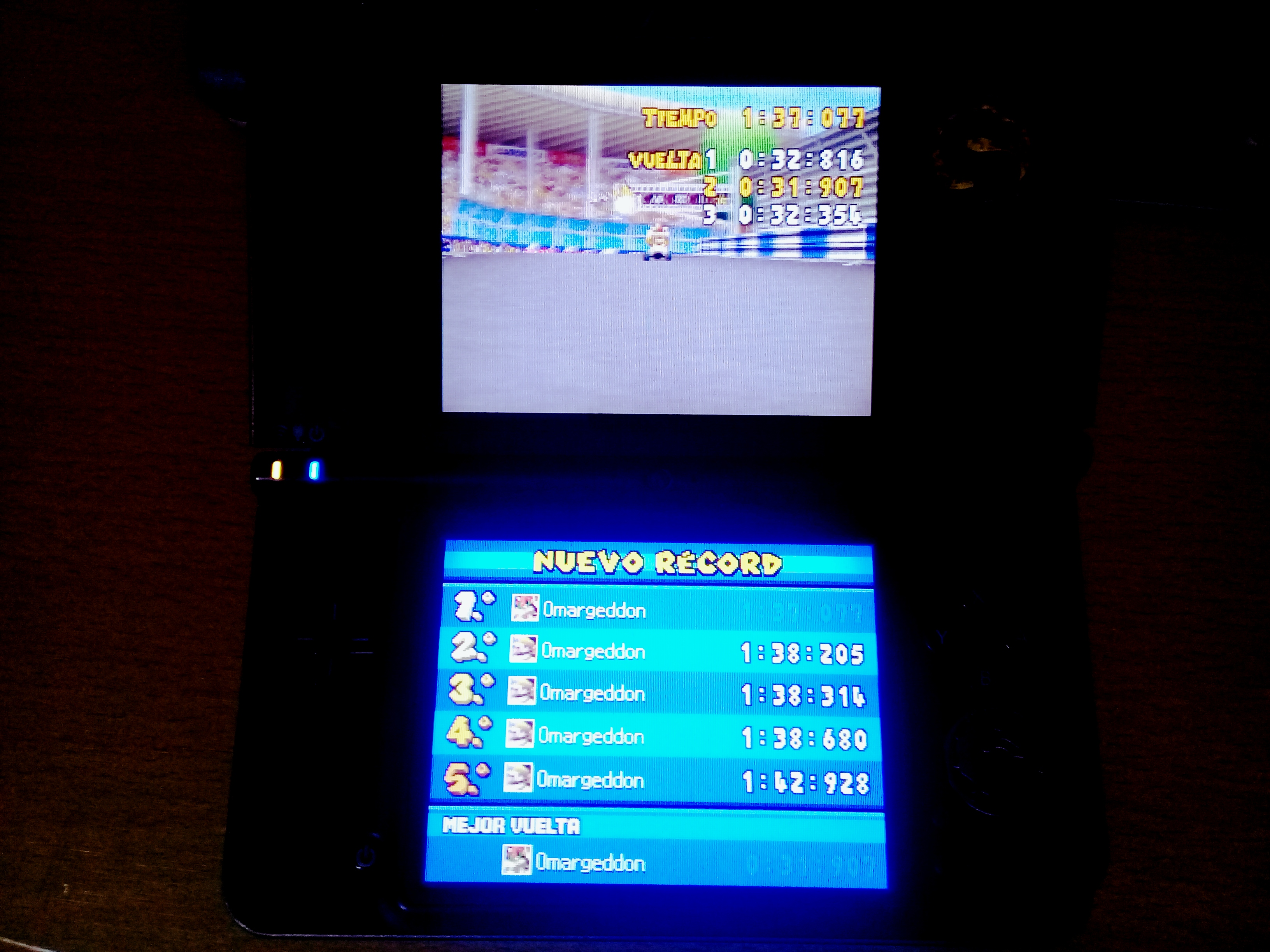 omargeddon: Mario Kart DS: Figure-8 Circuit [Time Trial] (Nintendo DS) 0:01:37.077 points on 2020-08-11 16:45:21