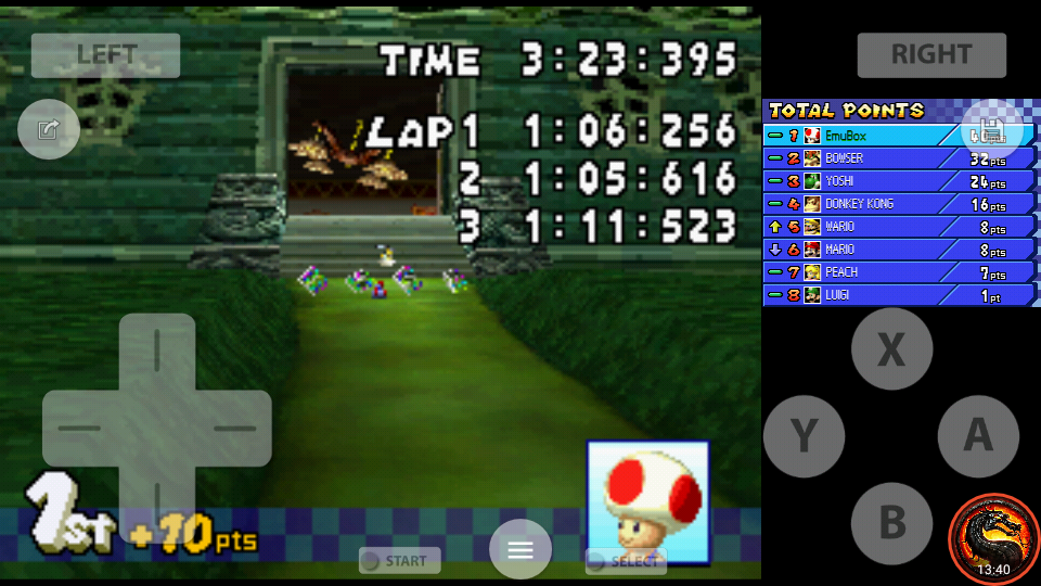 omargeddon: Mario Kart DS: GBA Luigi Circuit [50cc] [Lap Time] (Nintendo DS Emulated) 0:01:05.616 points on 2020-07-30 19:09:50
