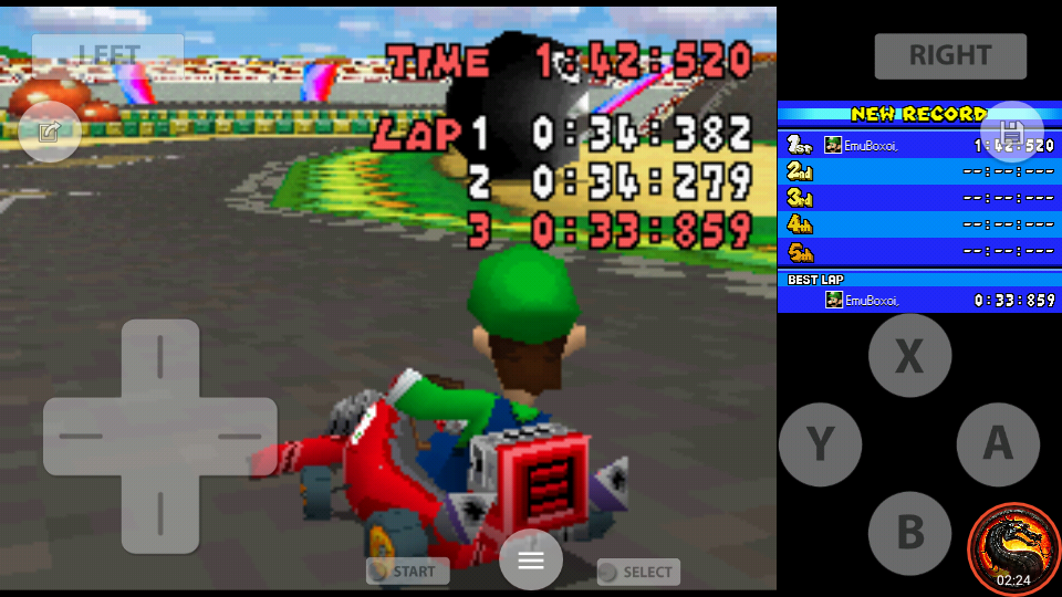 omargeddon: Mario Kart DS: GBA Luigi Circuit [Time Trial] [Lap Time] (Nintendo DS Emulated) 0:00:33.859 points on 2020-08-02 11:55:17