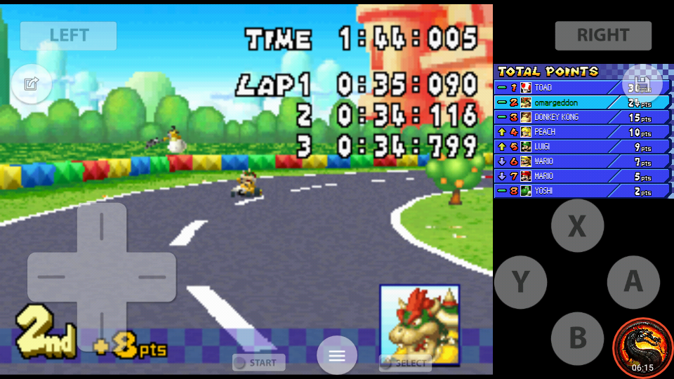 omargeddon: Mario Kart DS: GBA Peach Circuit [100cc] [Lap Time] (Nintendo DS Emulated) 0:00:34.116 points on 2020-09-29 22:20:22