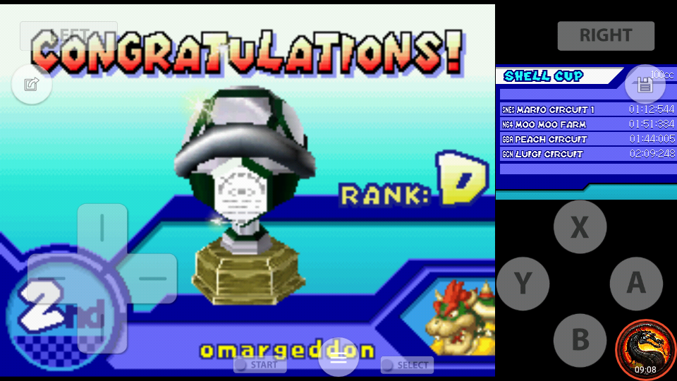 omargeddon: Mario Kart DS: GBA Peach Circuit [100cc] (Nintendo DS Emulated) 0:01:44.005 points on 2020-09-29 22:19:20