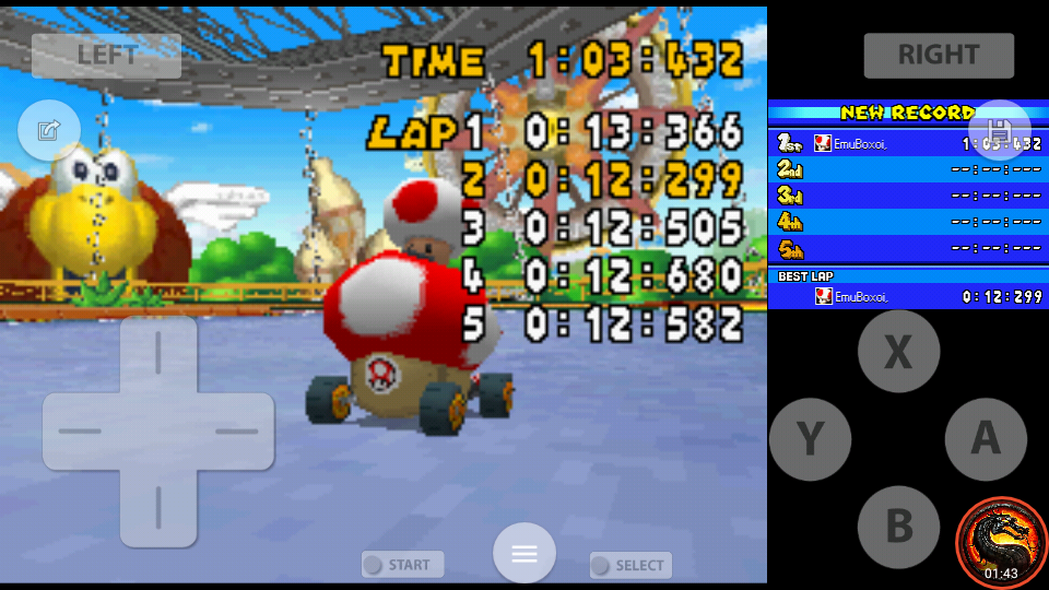 omargeddon: Mario Kart DS: GCN Baby Park [Time Trial] (Nintendo DS Emulated) 0:01:03.432 points on 2020-08-02 10:45:36