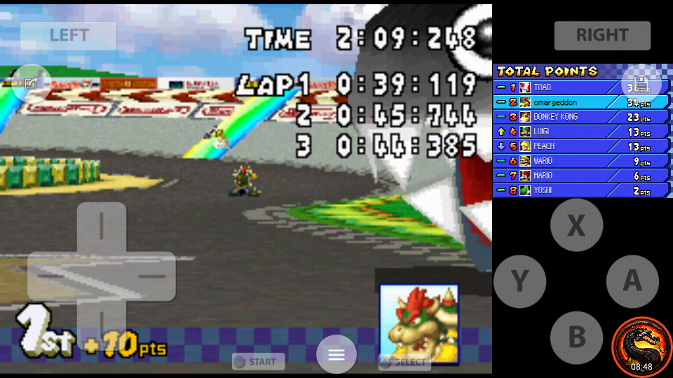 omargeddon: Mario Kart DS: GCN Luigi Circuit [100cc] [Lap Time] (Nintendo DS Emulated) 0:00:39.119 points on 2020-09-29 22:22:49