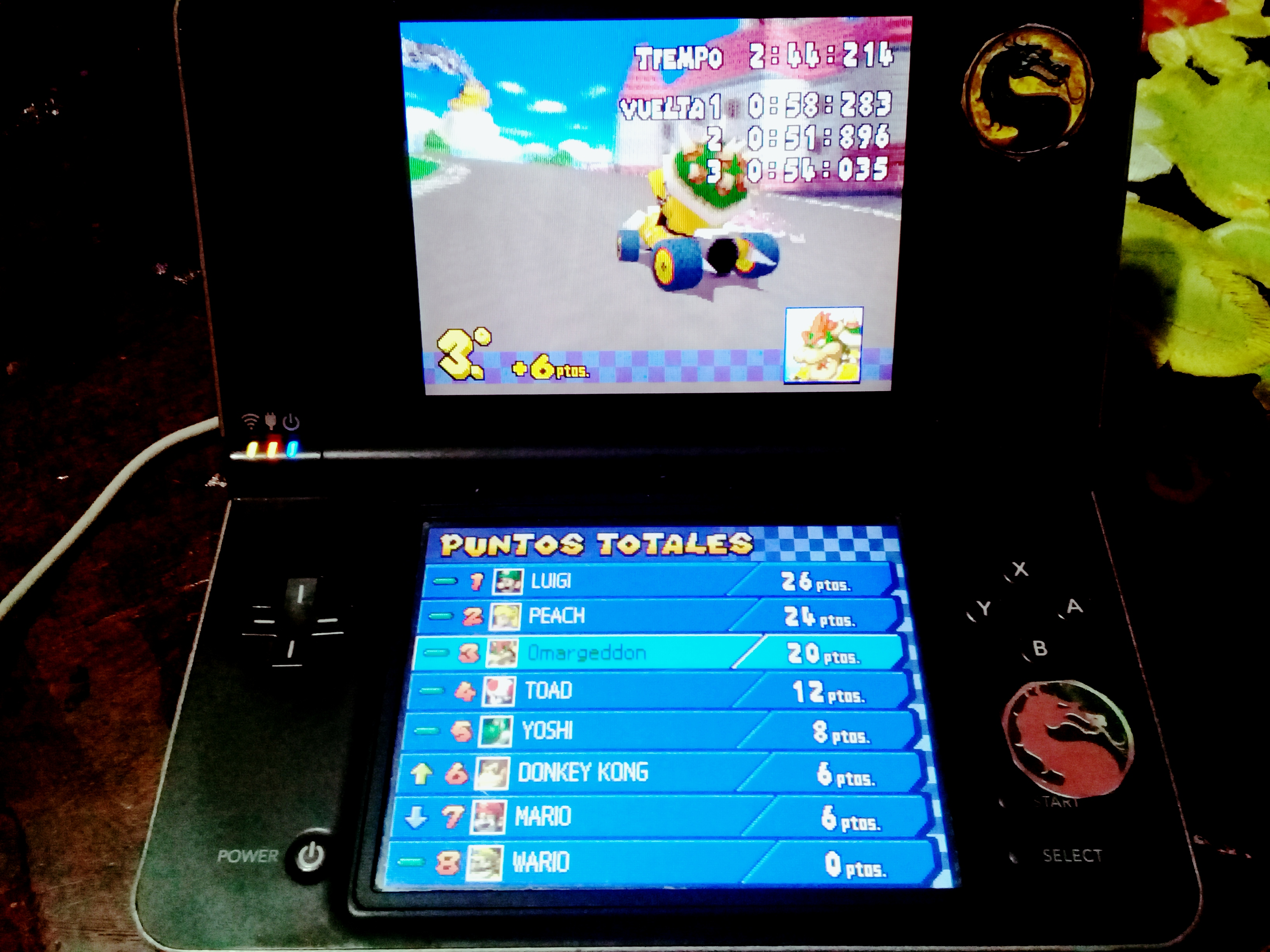 omargeddon: Mario Kart DS: Mario Circuit [100cc] [Lap Time] (Nintendo DS) 0:00:51.896 points on 2020-09-14 16:00:47