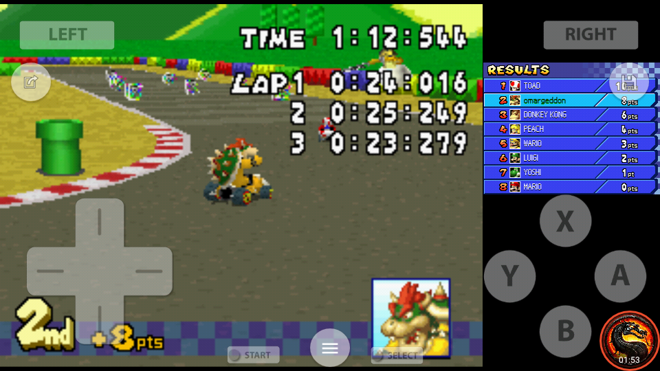 omargeddon: Mario Kart DS: Mario Circuit [100cc] [Lap Time] (Nintendo DS Emulated) 0:00:23.279 points on 2020-09-29 22:15:28