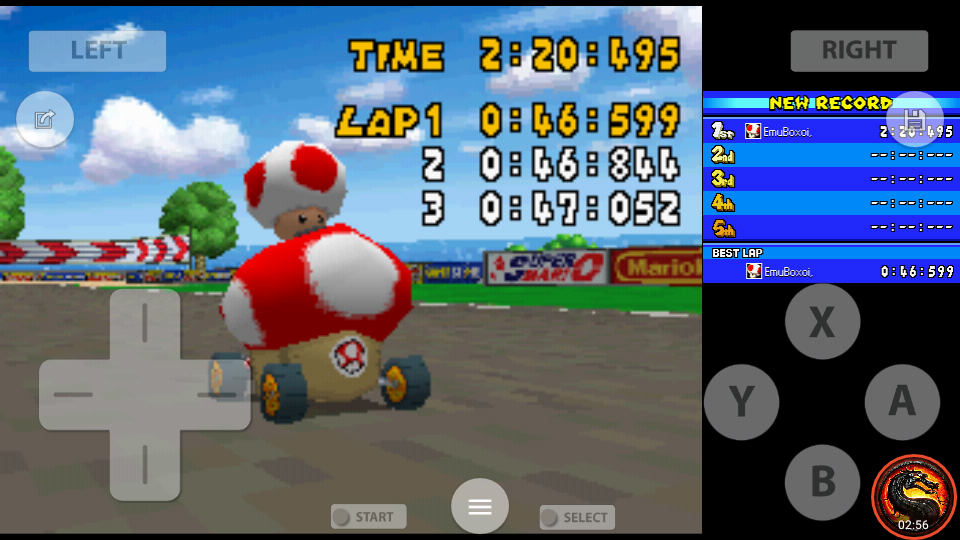 omargeddon: Mario Kart DS: Mario Circuit [Time Trial] (Nintendo DS Emulated) 0:02:20.495 points on 2020-08-02 10:15:37
