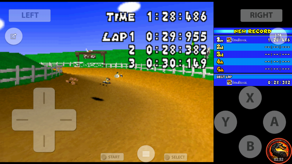 omargeddon: Mario Kart DS: N64 Moo Moo Farm [Time Trial] (Nintendo DS Emulated) 0:01:28.486 points on 2020-08-02 10:27:41