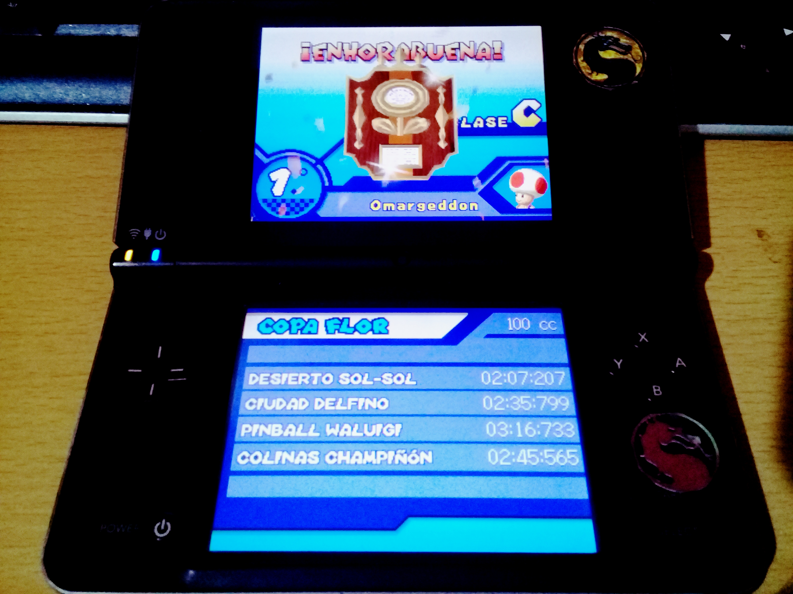 omargeddon: Mario Kart DS: Shroom Ridge [100cc] [Lap Time] (Nintendo DS) 0:00:55.082 points on 2020-09-14 15:35:32
