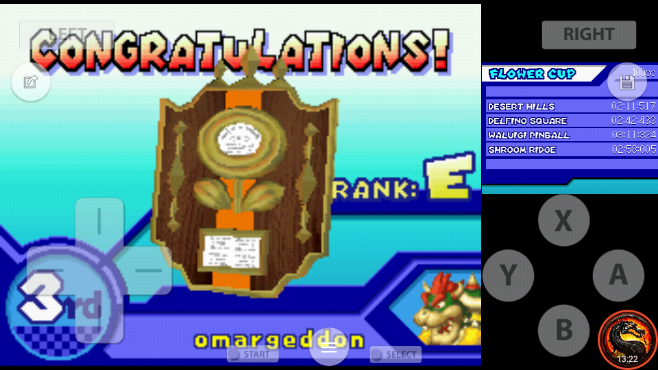 omargeddon: Mario Kart DS: Shroom Ridge [100cc] (Nintendo DS Emulated) 0:02:58.005 points on 2020-09-29 22:10:44