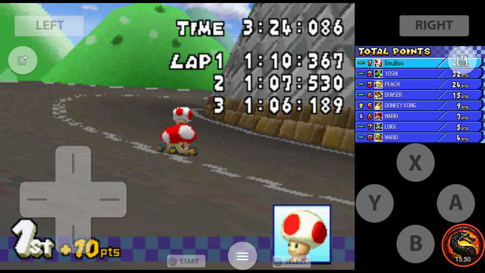 omargeddon: Mario Kart DS: Shroom Ridge [50cc] (Nintendo DS Emulated) 0:03:24.086 points on 2020-07-30 19:20:34