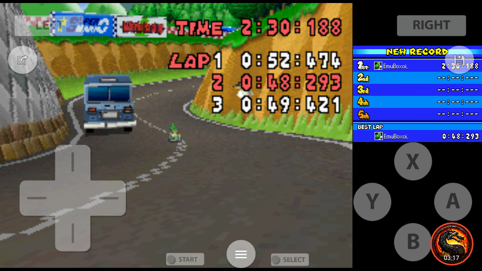 omargeddon: Mario Kart DS: Shroom Ridge [Time Trial] [Lap Time] (Nintendo DS Emulated) 0:00:48.293 points on 2020-08-02 10:06:36