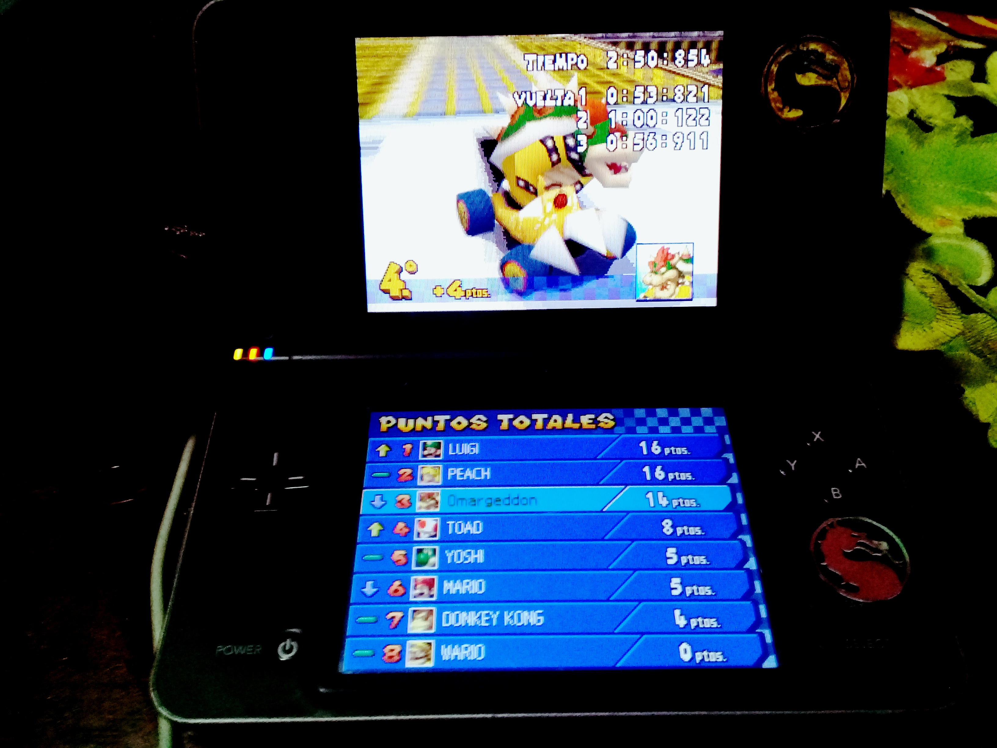 omargeddon: Mario Kart DS: Tick-Tock Clock [100cc] [Lap Time] (Nintendo DS) 0:00:53.821 points on 2020-09-14 15:51:32