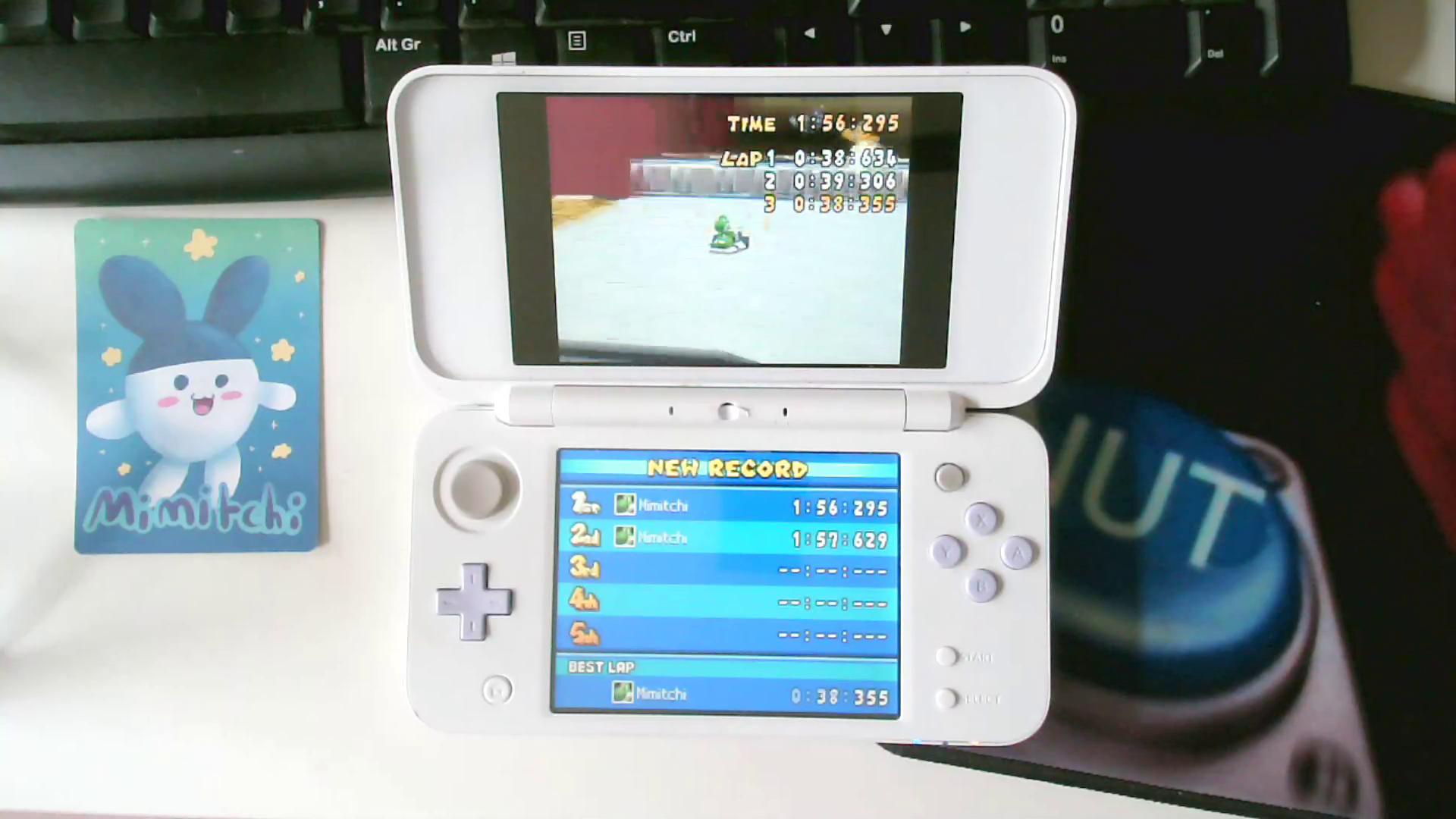 Mimitchi: Mario Kart DS: Tick-Tock Clock [Time Trial] [Lap Time] (Nintendo DS) 0:00:38.355 points on 2020-07-04 05:50:12