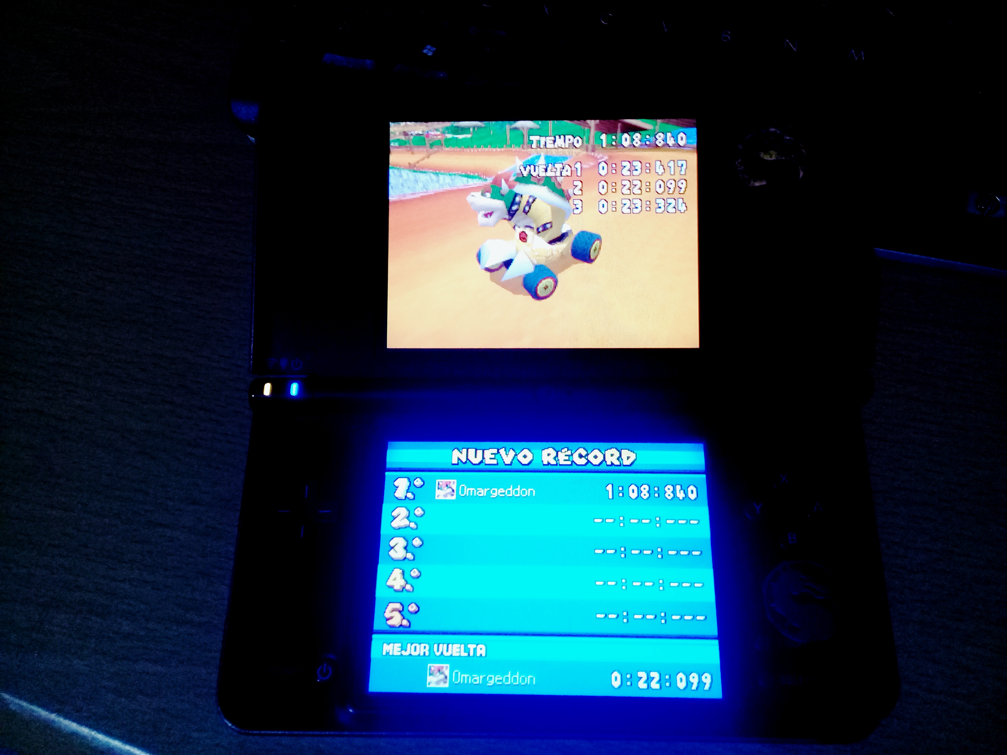 omargeddon: Mario Kart DS: Yoshi Falls [Time Trial] [Lap Time] (Nintendo DS) 0:00:22.099 points on 2020-08-11 17:00:27