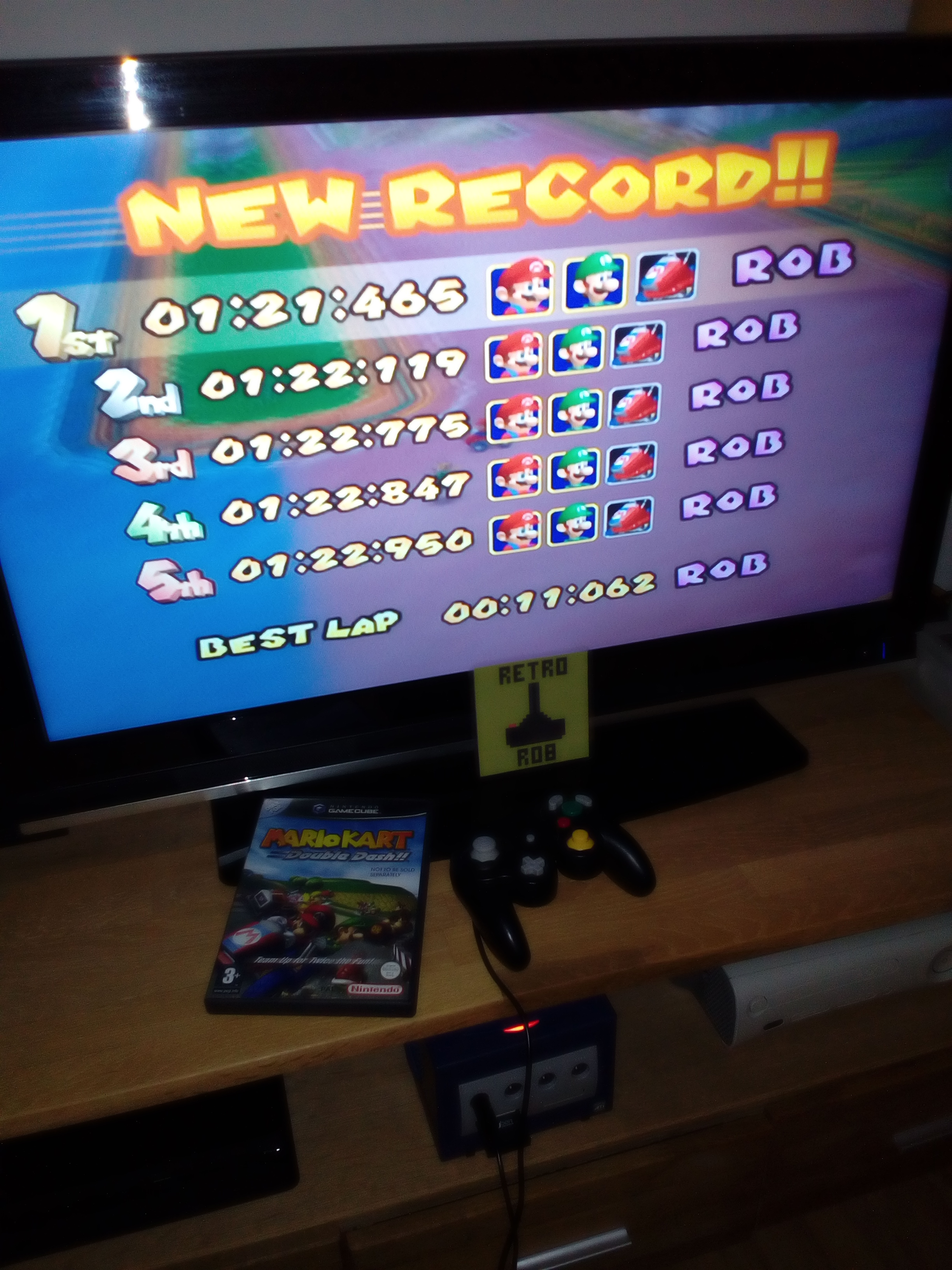 RetroRob: Mario Kart Double Dash: Baby Park [Time Trial] (GameCube) 0:01:21.465 points on 2019-02-25 13:16:33