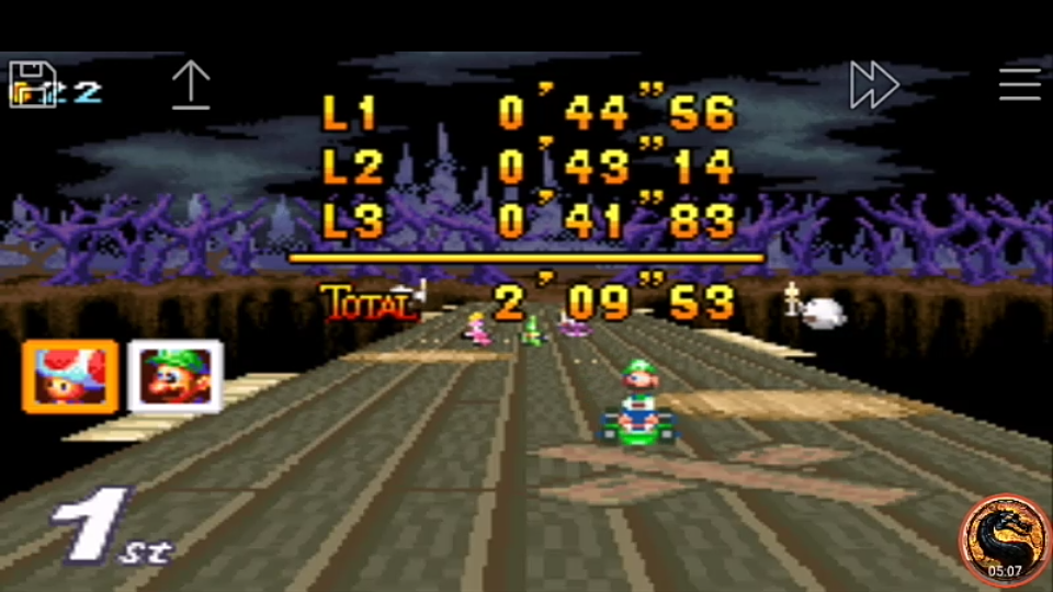 omargeddon: Mario Kart Super Circuit: Boo Lake [50cc] [Lap Time] (GBA Emulated) 0:00:41.83 points on 2019-12-15 08:21:15