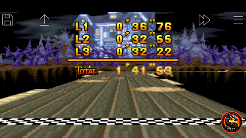 omargeddon: Mario Kart Super Circuit: Boo Lake [Time Trial] [Lap Time] (GBA Emulated) 0:00:32.22 points on 2020-06-09 00:56:49