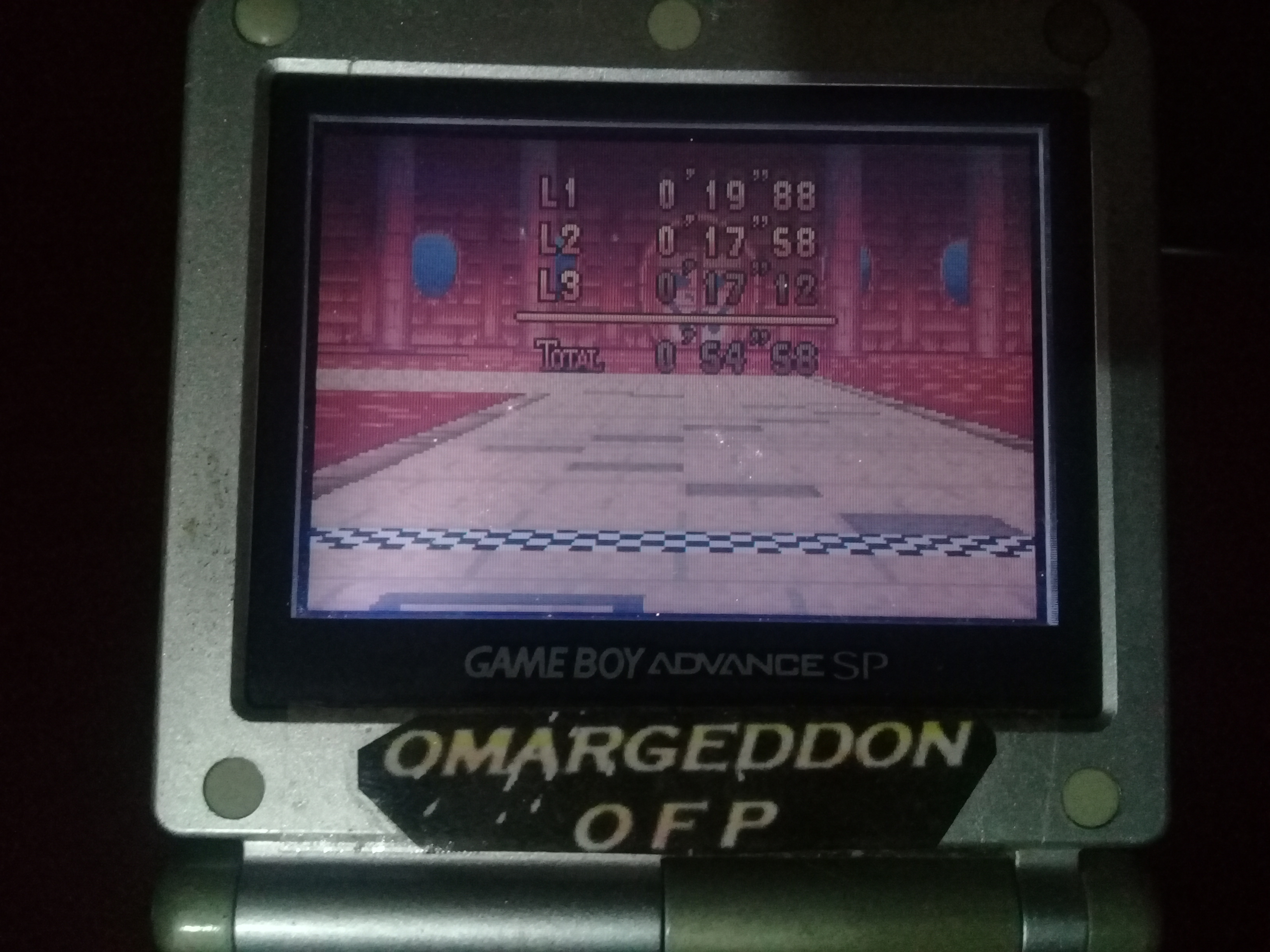omargeddon: Mario Kart Super Circuit: Bowser Castle 1 [Time Trial] [Lap Time] (GBA) 0:00:17.12 points on 2020-06-07 19:24:30