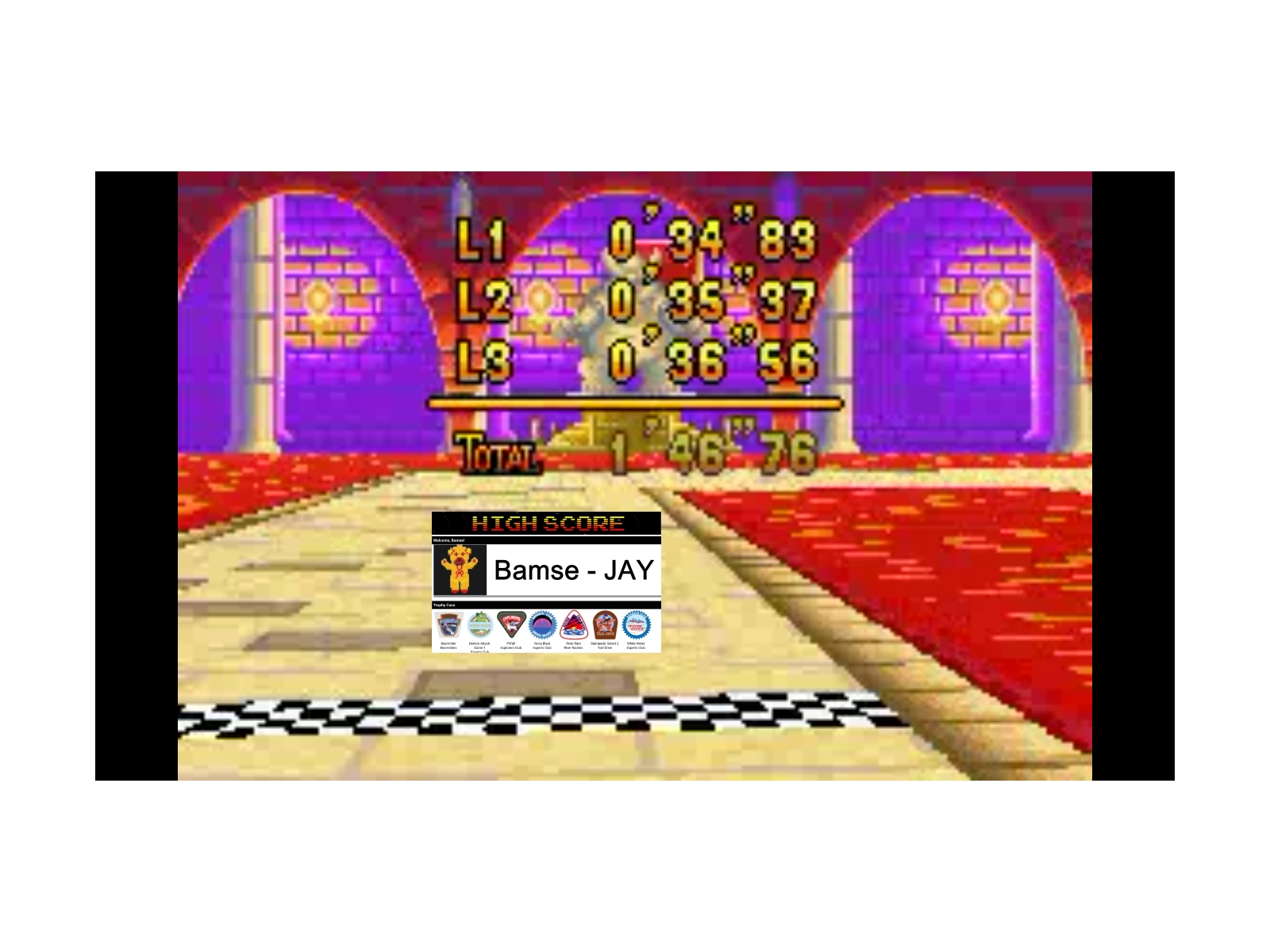 Bamse: Mario Kart Super Circuit: Bowser Castle 2 [Time Trial] [Lap Time] (GBA Emulated) 0:00:34.83 points on 2019-12-17 13:01:16