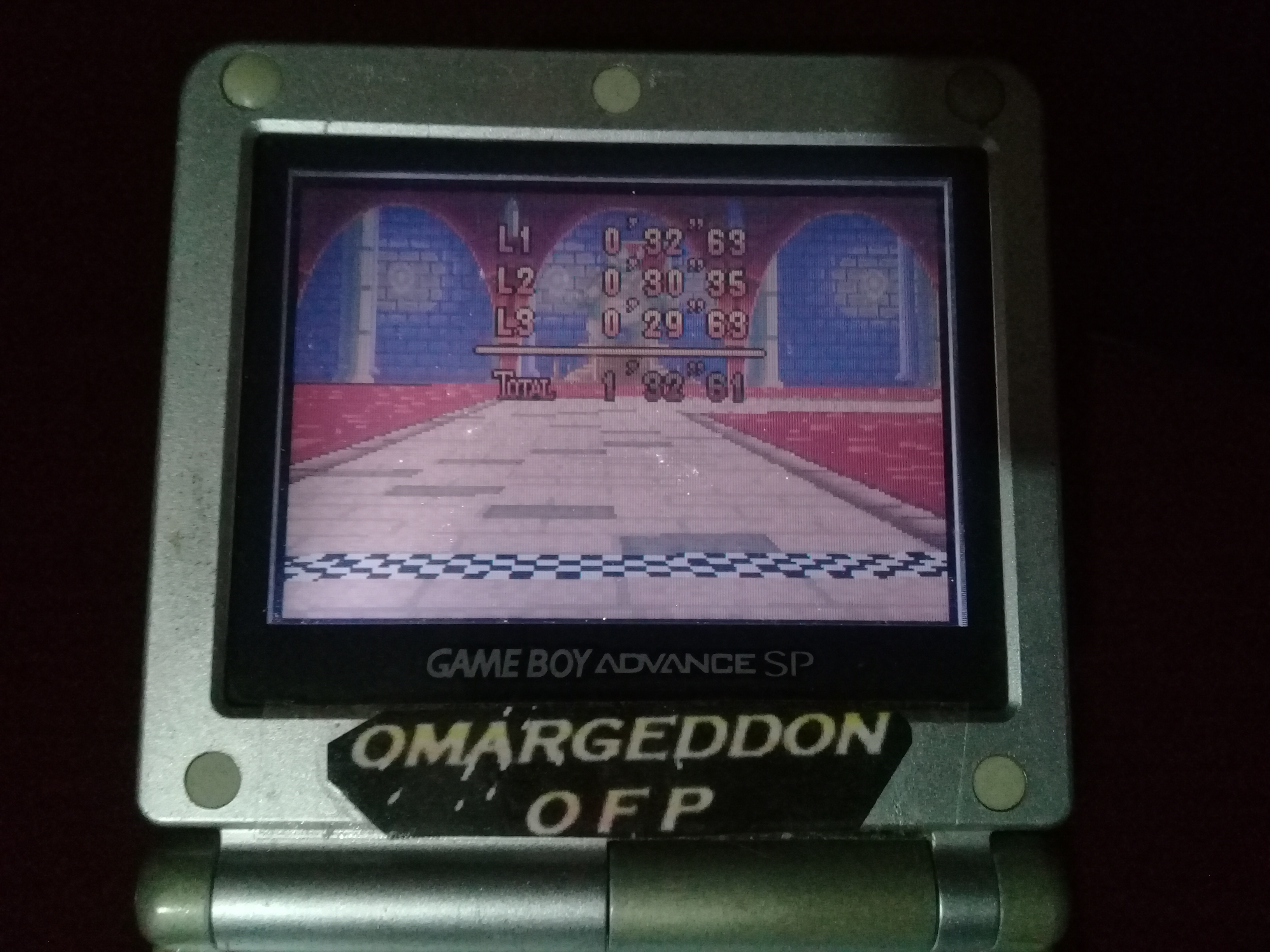 omargeddon: Mario Kart Super Circuit: Bowser Castle 2 [Time Trial] [Lap Time] (GBA) 0:00:29.63 points on 2020-06-07 20:52:32