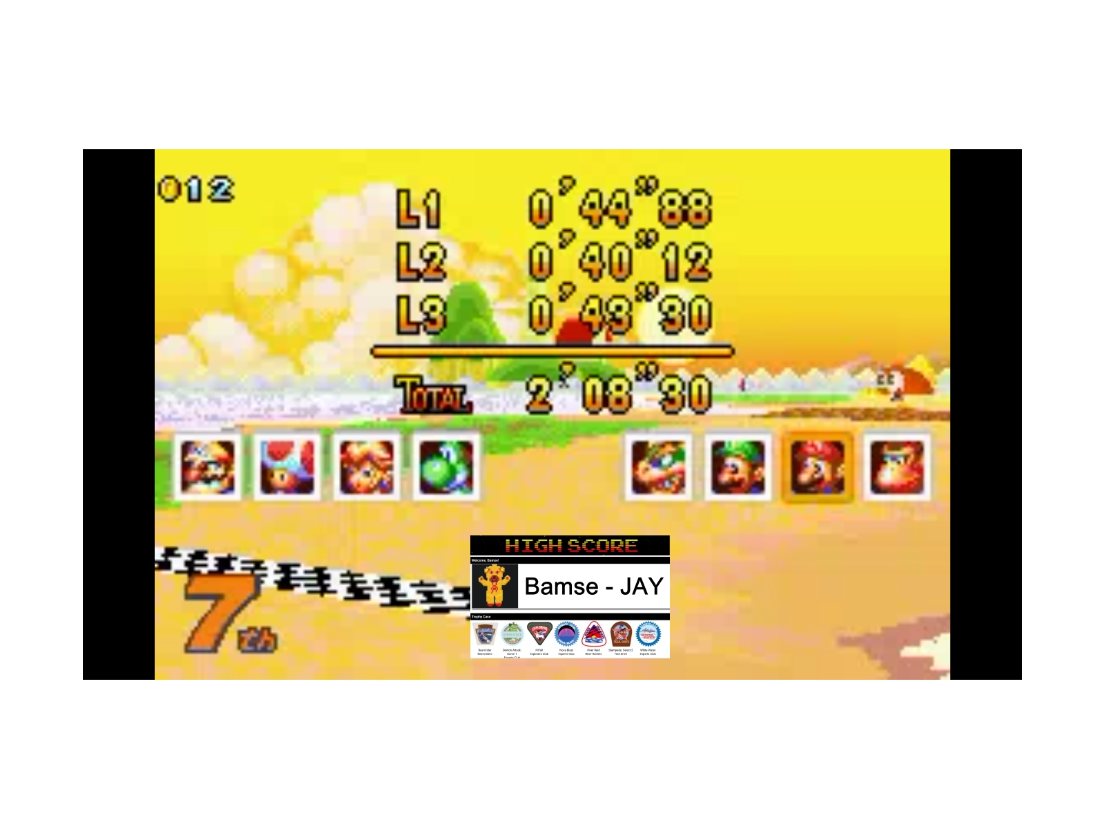 Bamse: Mario Kart Super Circuit: Cheep Cheep Island [150cc] [Lap Time] (GBA Emulated) 0:00:40.12 points on 2019-12-17 13:21:03