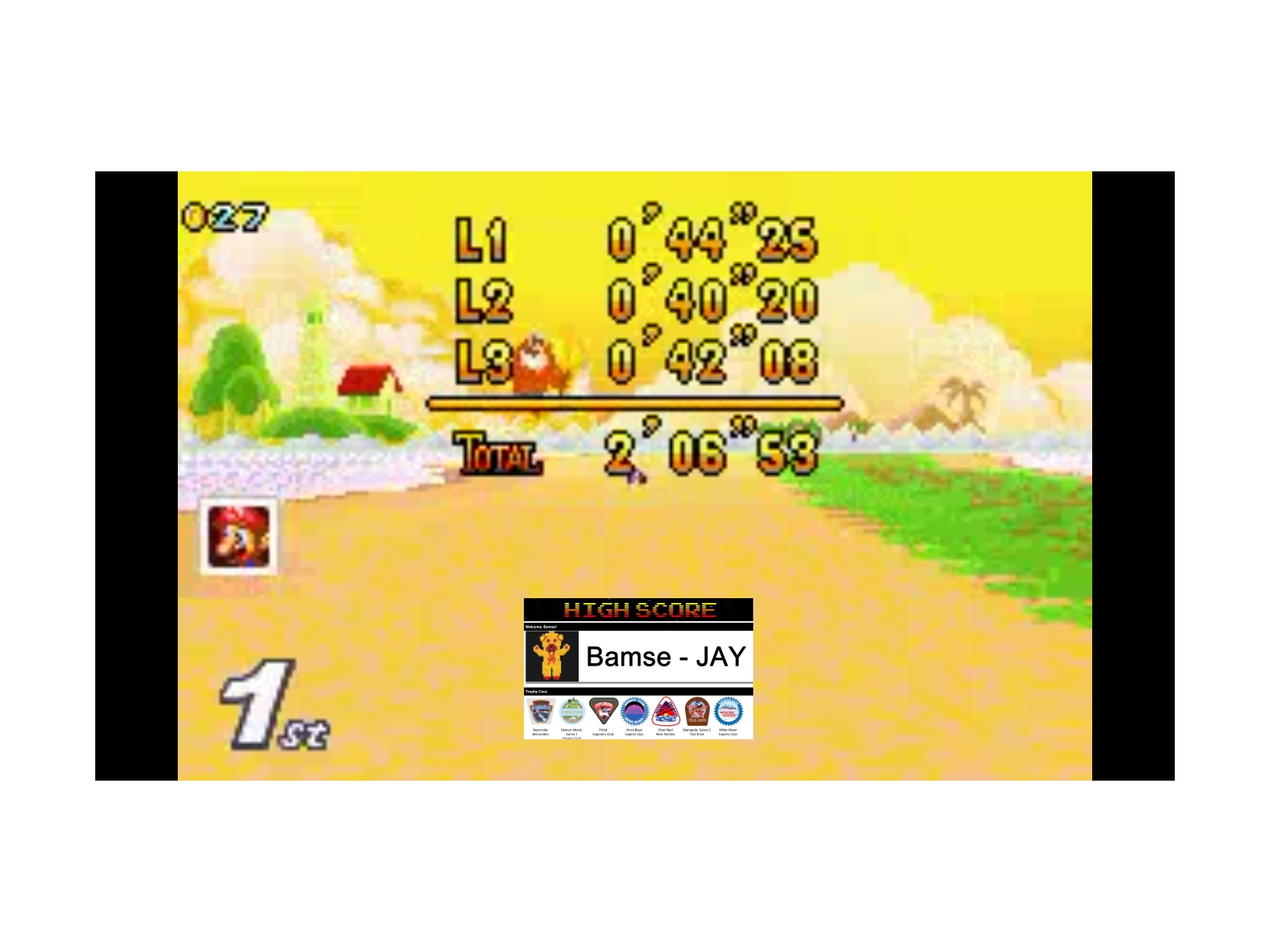Bamse: Mario Kart Super Circuit: Cheep Cheep Island [50cc] [Lap Time] (GBA Emulated) 0:00:40.2 points on 2019-12-17 13:13:45