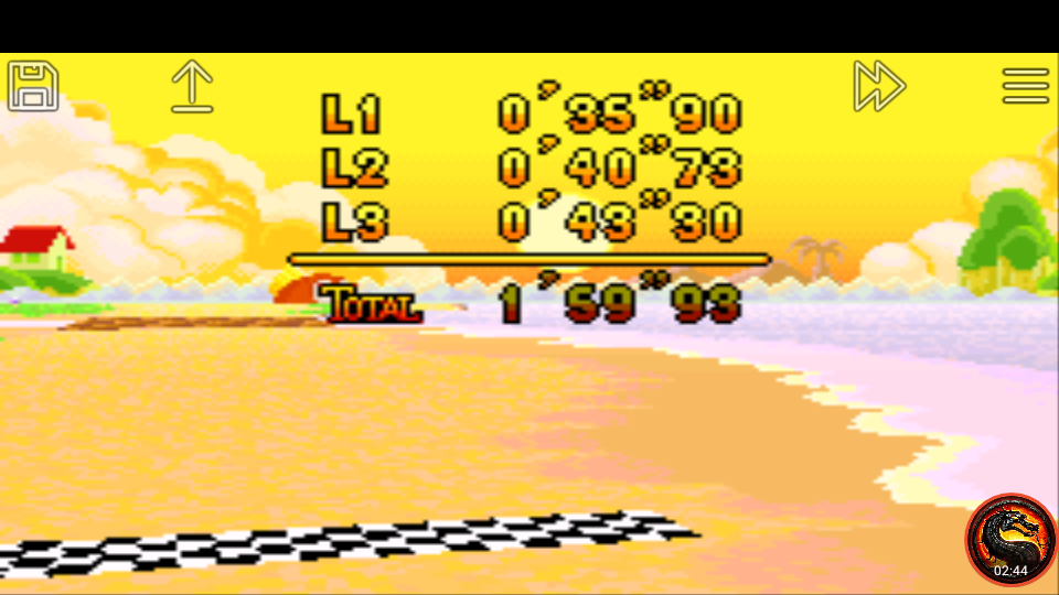 omargeddon: Mario Kart Super Circuit: Cheep Cheep Island [Time Trial] [Lap Time] (GBA Emulated) 0:00:35.9 points on 2020-06-12 23:58:33