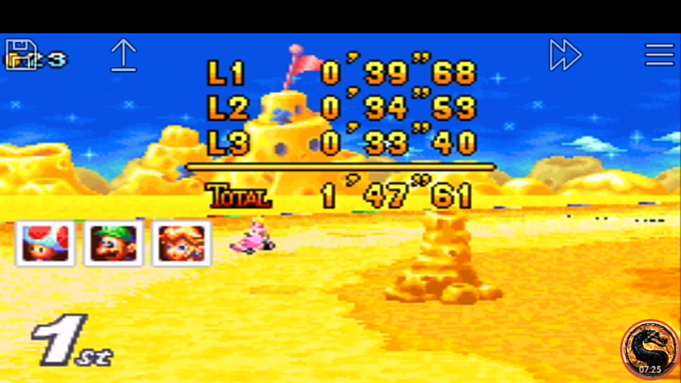 omargeddon: Mario Kart Super Circuit: Cheese Land [50cc] [Lap Time] (GBA Emulated) 0:00:33.4 points on 2019-12-15 08:23:30