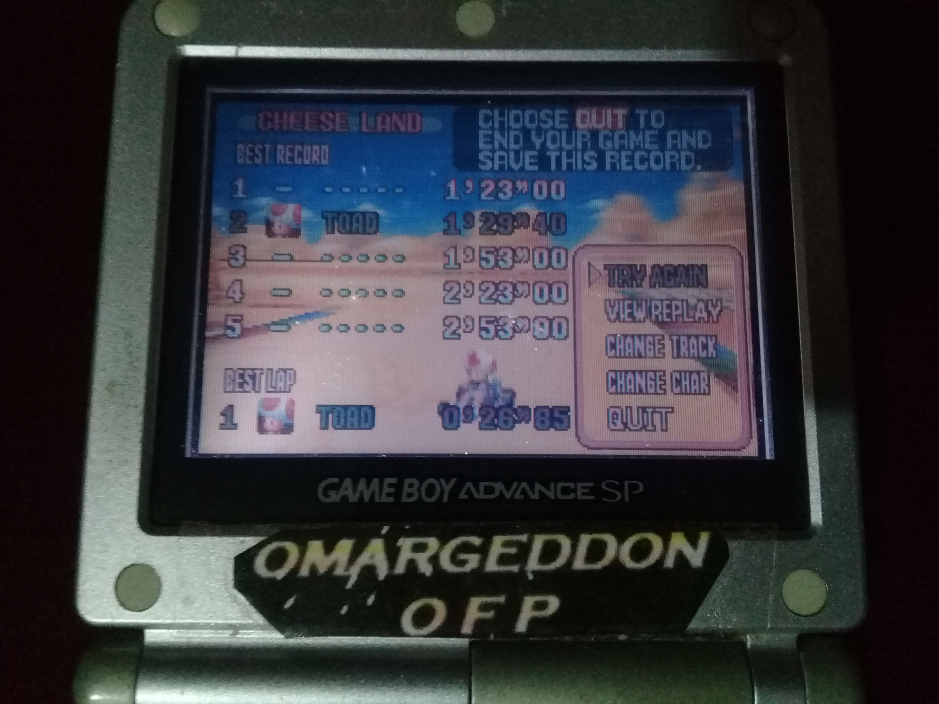 omargeddon: Mario Kart Super Circuit: Cheese Land [Time Trial] (GBA) 0:01:29.4 points on 2020-06-07 20:43:17