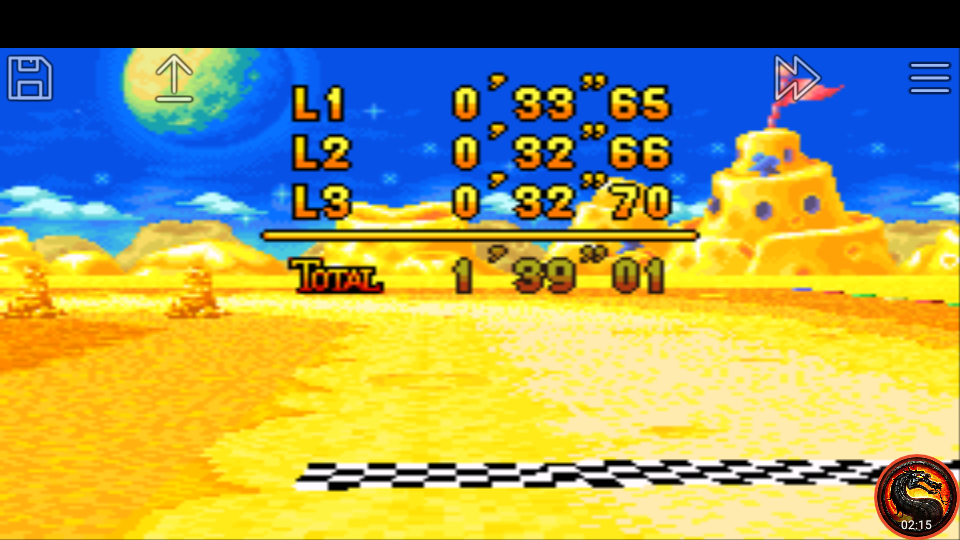 omargeddon: Mario Kart Super Circuit: Cheese Land [Time Trial] [Lap Time] (GBA Emulated) 0:00:32.66 points on 2020-06-09 01:01:50