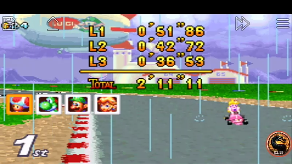 omargeddon: Mario Kart Super Circuit: Luigi Circuit [50cc] [Lap Time] (GBA Emulated) 0:00:36.53 points on 2019-12-15 20:17:54