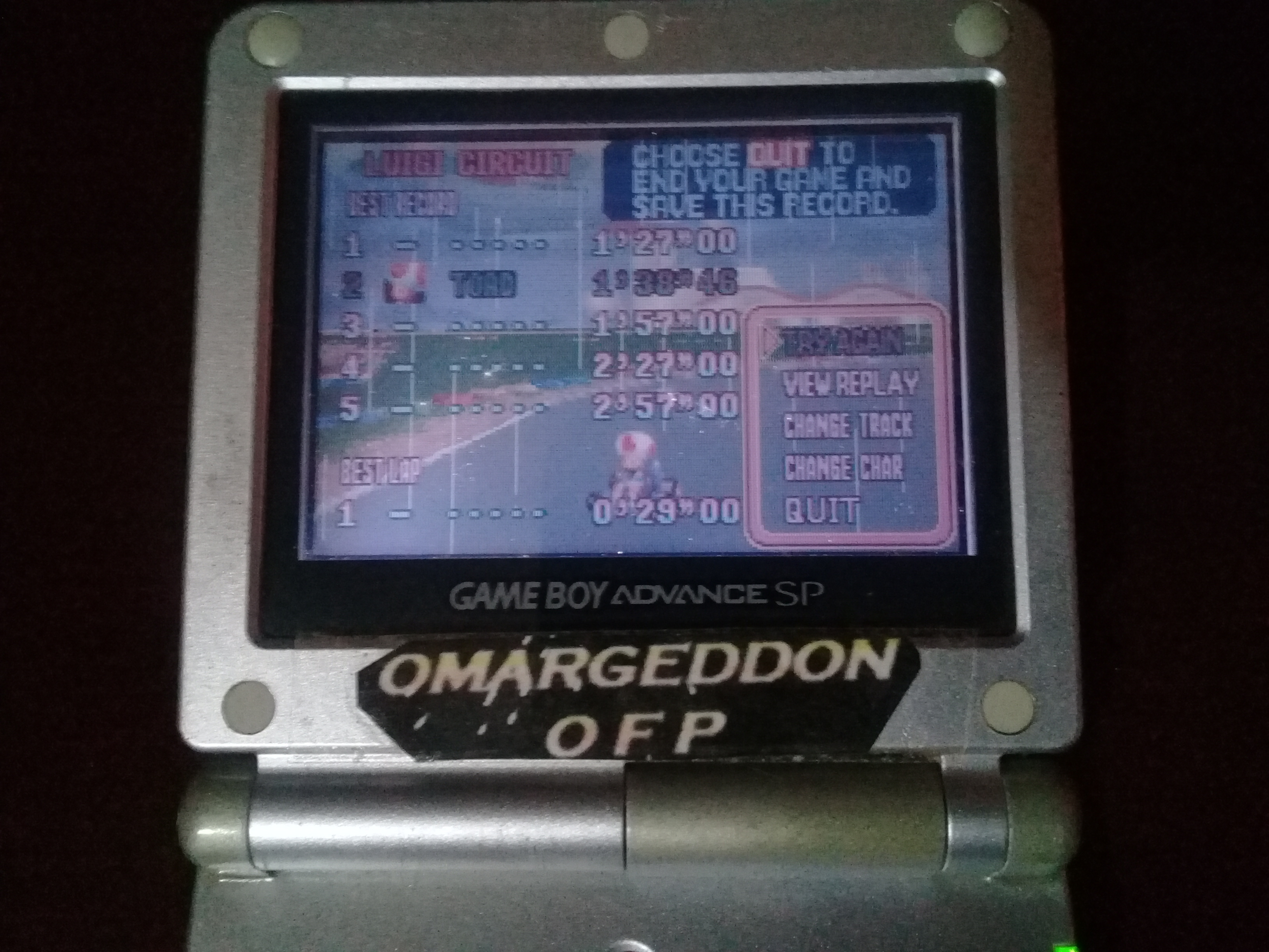 omargeddon: Mario Kart Super Circuit: Luigi Circuit [Time Trial] (GBA) 0:01:38.46 points on 2020-06-14 12:36:59