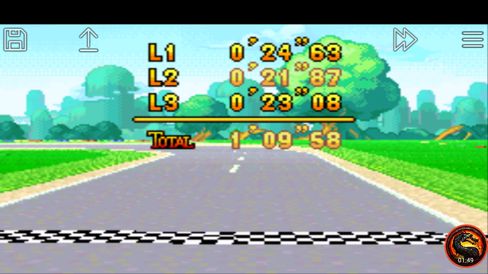 omargeddon: Mario Kart Super Circuit: Mario Circuit [Time Trial] [Lap Time] (GBA Emulated) 0:00:21.87 points on 2020-06-09 00:53:40
