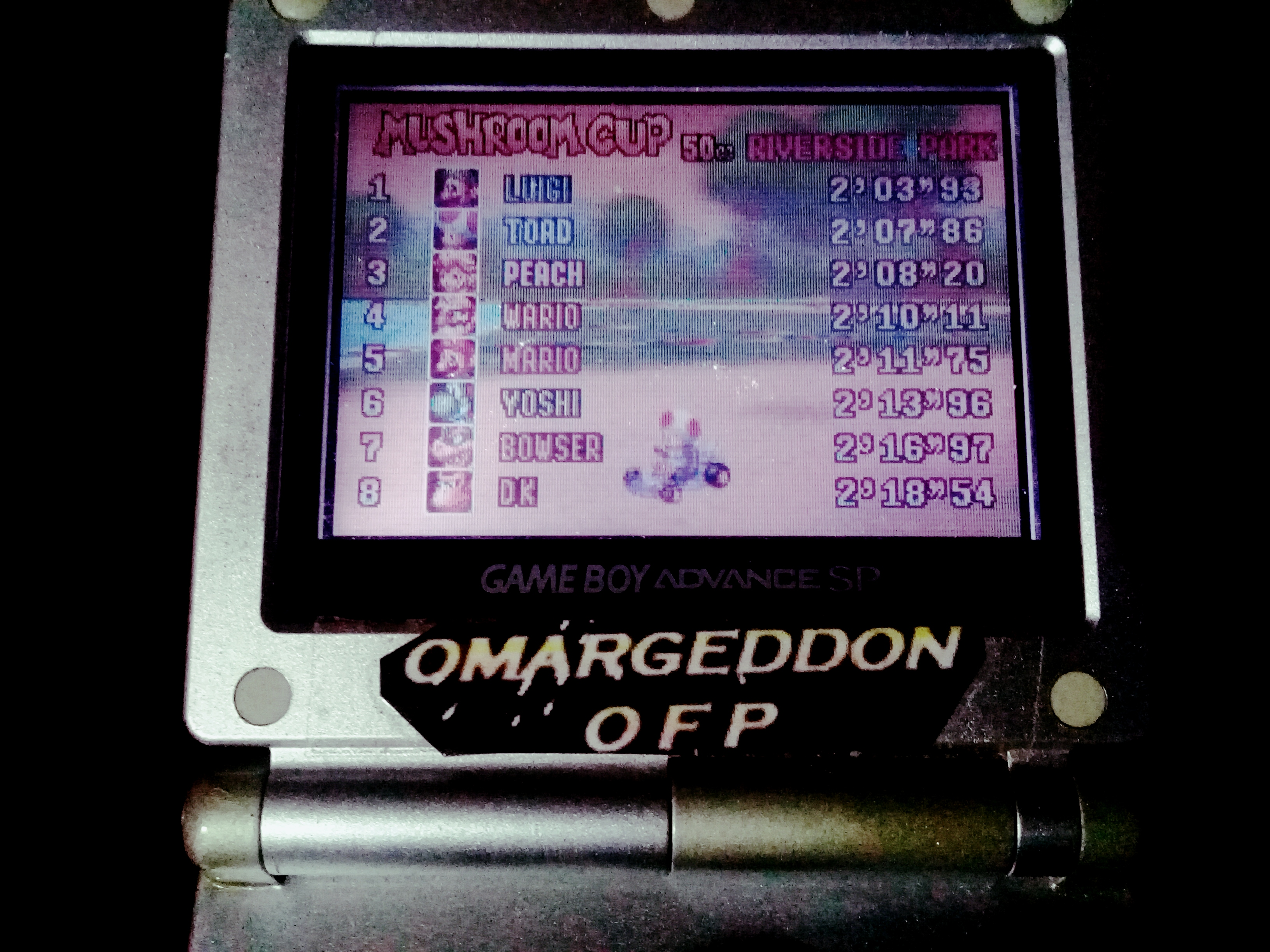 omargeddon: Mario Kart Super Circuit: Riverside Park [50cc] (GBA) 0:02:07.86 points on 2019-12-14 21:06:26