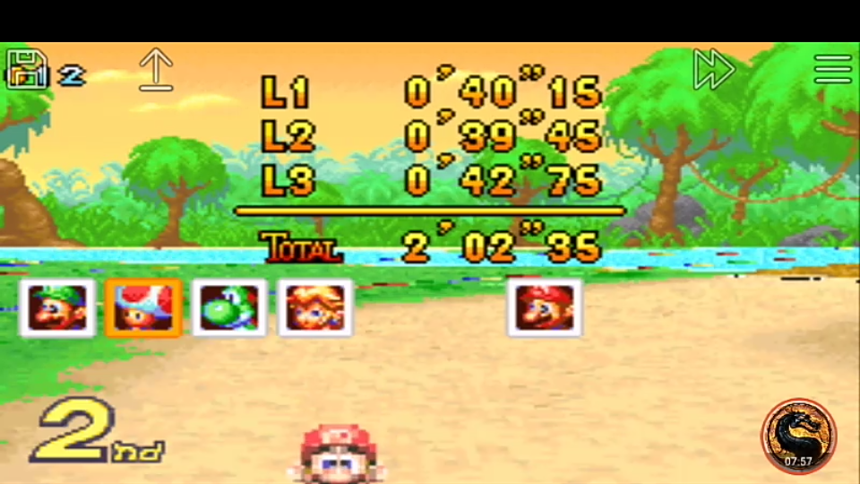 omargeddon: Mario Kart Super Circuit: Riverside Park [50cc] [Lap Time] (GBA Emulated) 0:00:39.45 points on 2019-12-14 10:31:56
