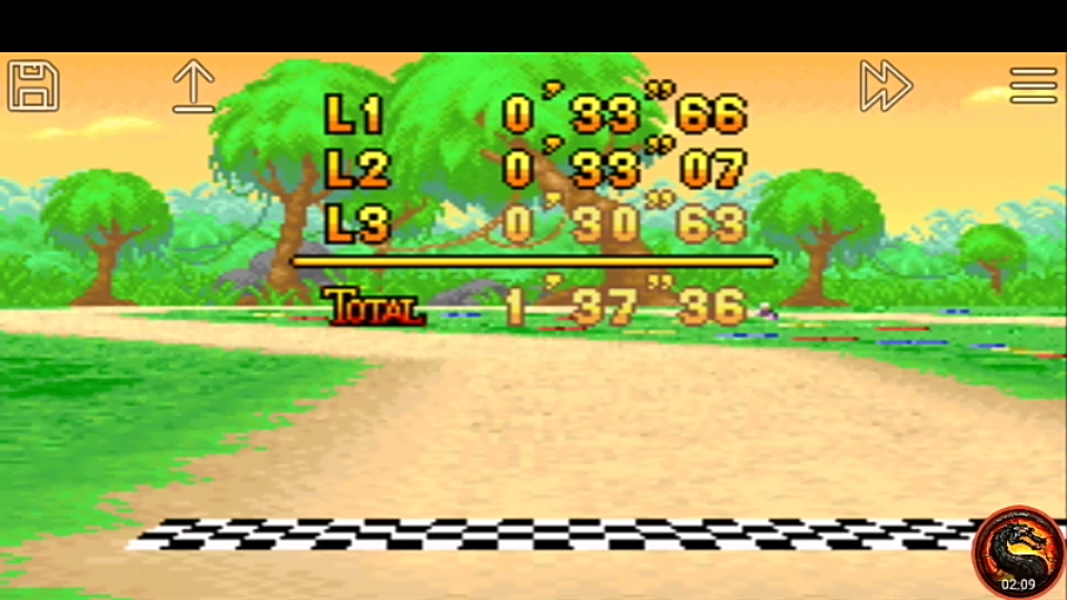 omargeddon: Mario Kart Super Circuit: Riverside Park [Time Trial] [Lap Time] (GBA Emulated) 0:00:30.63 points on 2020-06-08 13:48:16