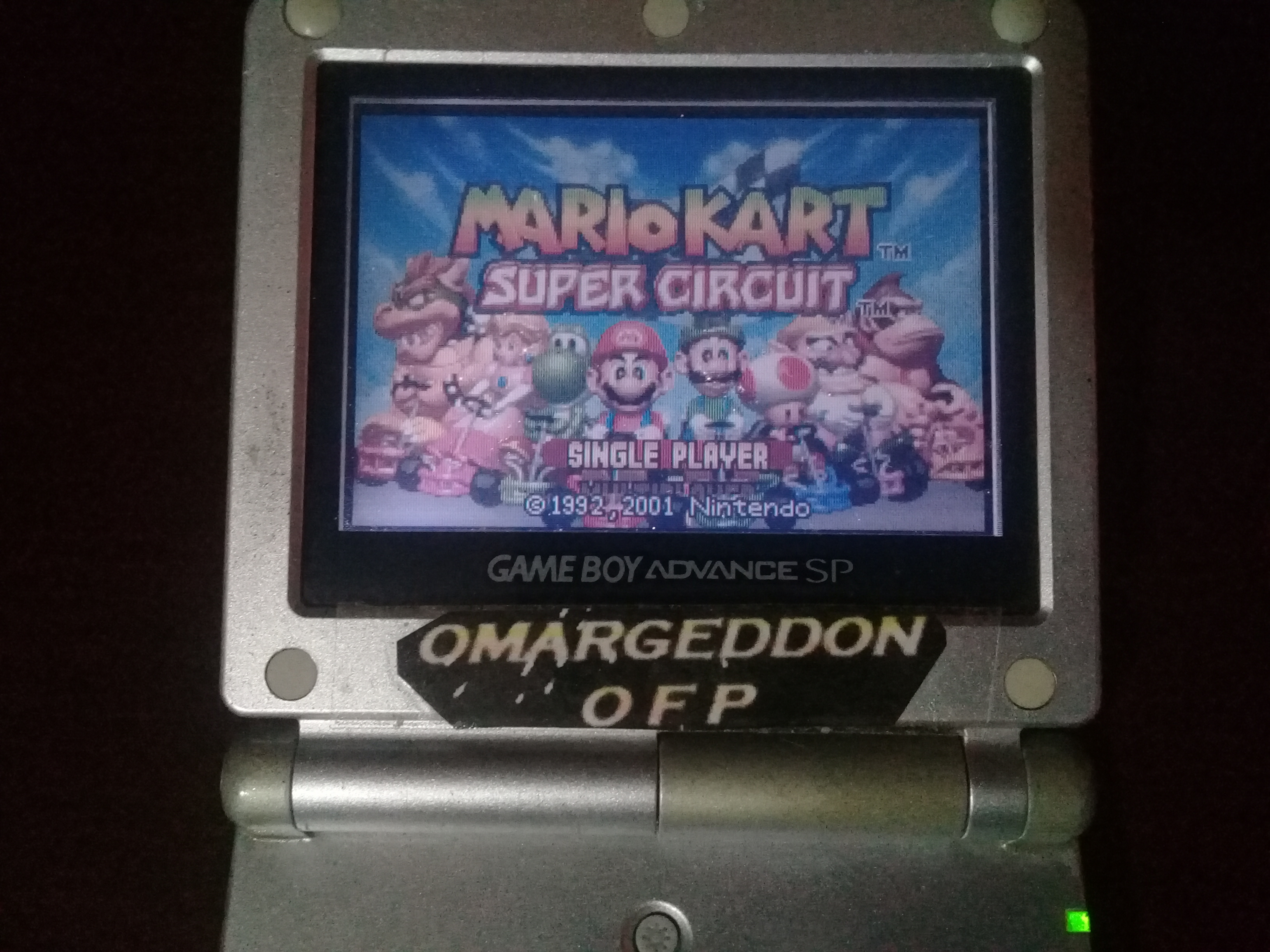 omargeddon: Mario Kart Super Circuit: Shy Guy Beach [50cc] (GBA) 0:01:27.41 points on 2020-06-07 18:00:32