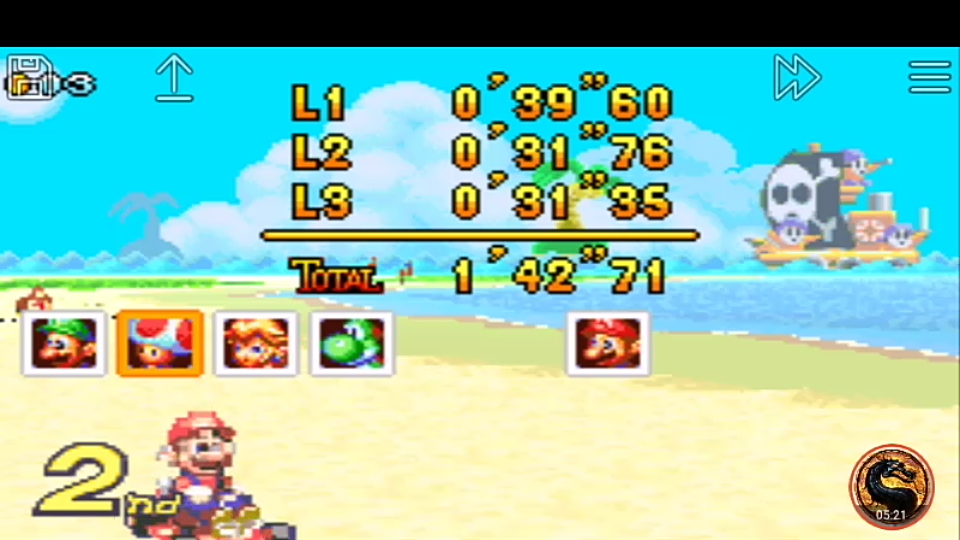 omargeddon: Mario Kart Super Circuit: Shy Guy Beach [50cc] [Lap Time] (GBA Emulated) 0:00:31.35 points on 2019-12-14 10:27:21