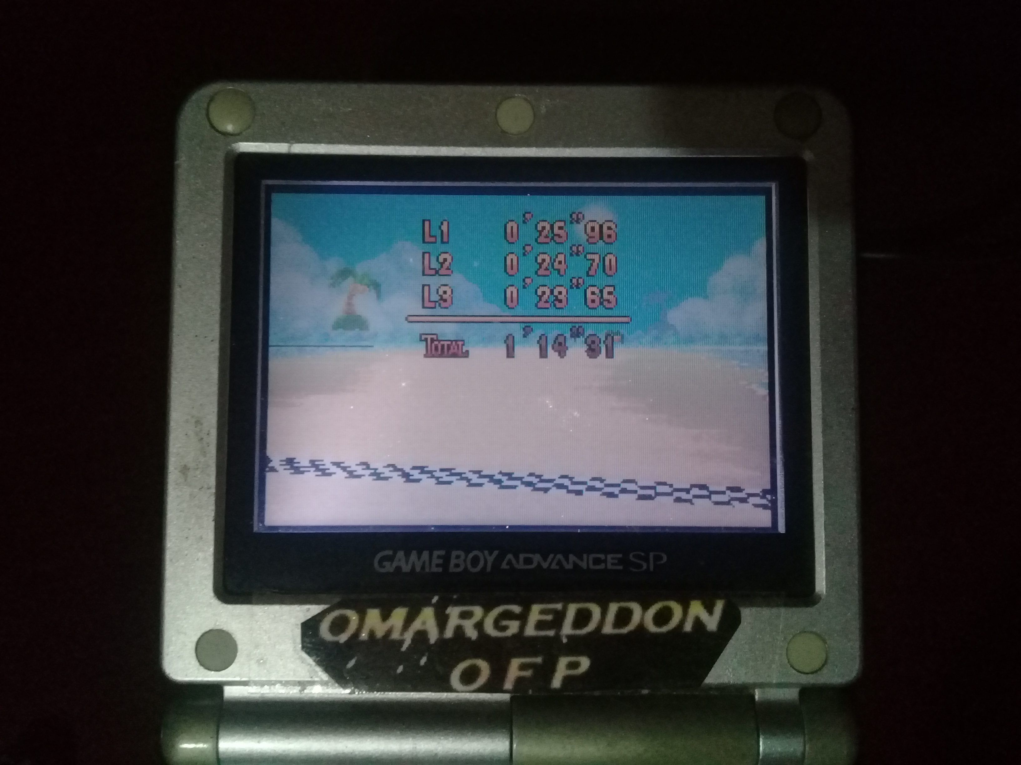 omargeddon: Mario Kart Super Circuit: Shy Guy Beach [Time Trial] [Lap Time] (GBA) 0:00:23.65 points on 2020-06-07 19:16:41