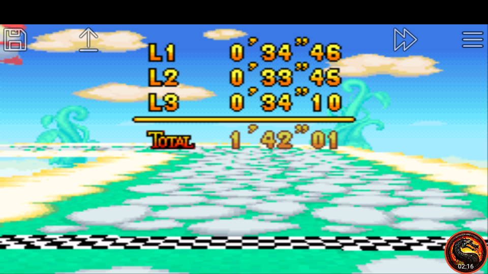 omargeddon: Mario Kart Super Circuit: Sky Garden [Time Trial] [Lap Time] (GBA Emulated) 0:00:33.45 points on 2020-06-09 01:12:13