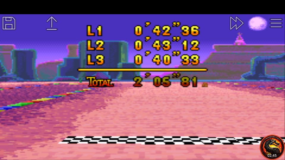 omargeddon: Mario Kart Super Circuit: Sunset Wilds [Time Trial] [Lap Time] (GBA Emulated) 0:00:40.33 points on 2020-06-09 01:17:31