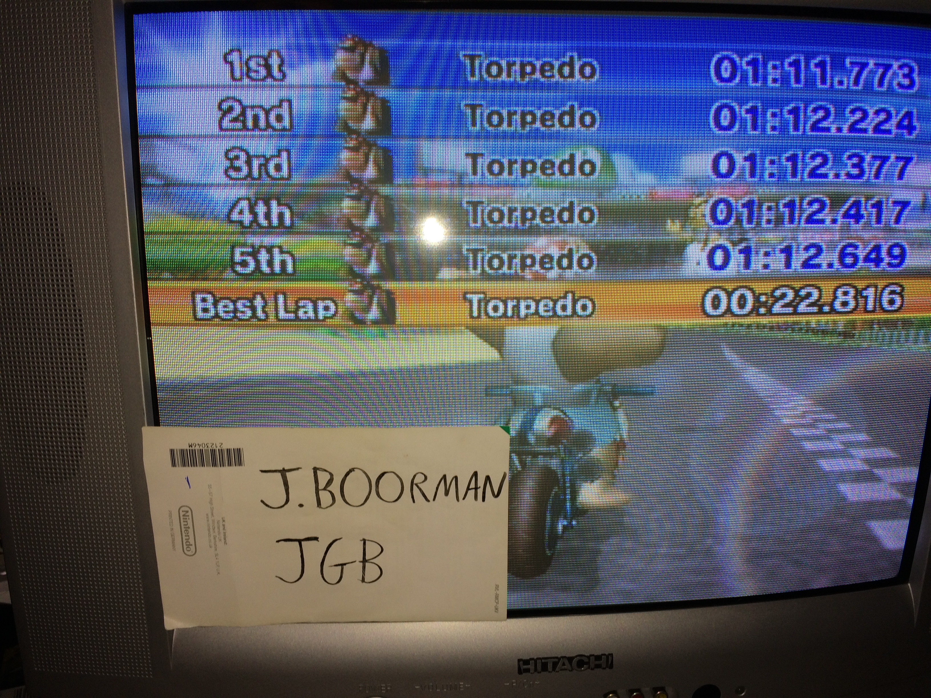 Mario Kart Wii: Time Trials: Luigi Circuit [Best Lap] time of 0:00:22.816