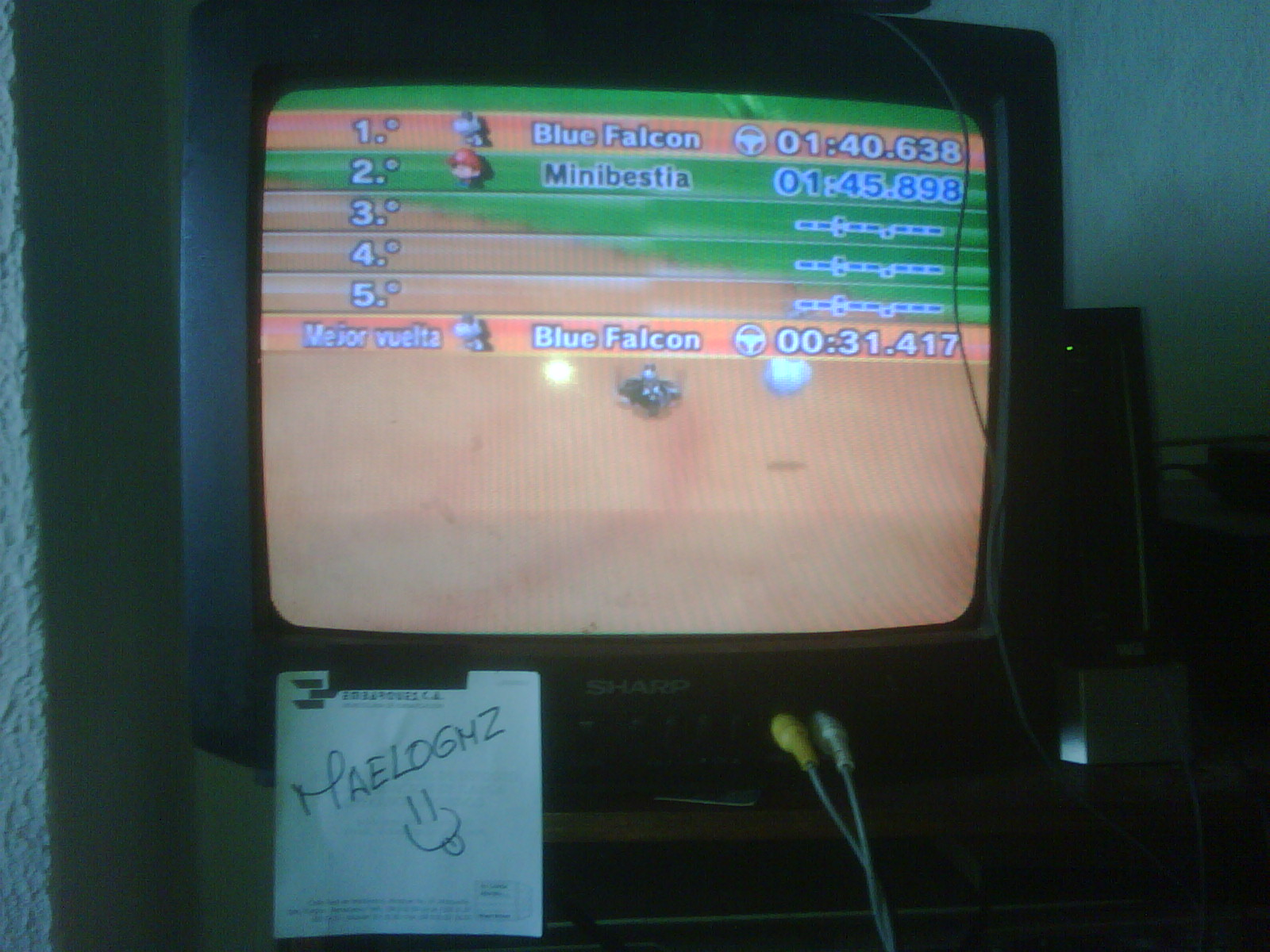 Mario Kart Wii: Time Trials: Moo Moo Meadows [Best Time] time of 0:01:40.638