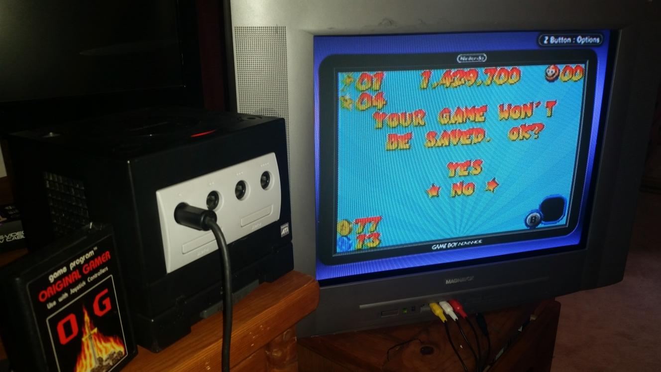 OriginalGamer: Mario Pinball Land (GBA) 1,429,700 points on 2016-06-26 20:05:12