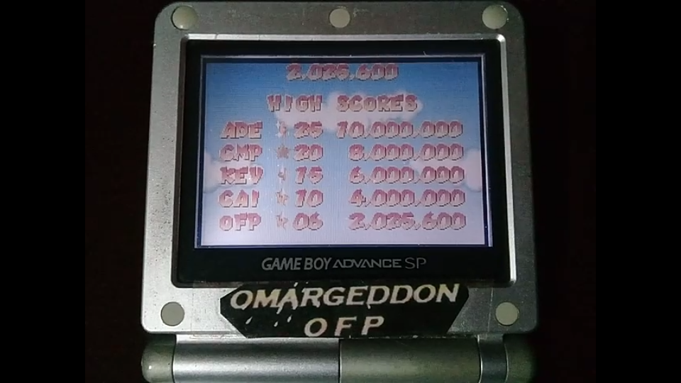 omargeddon: Mario Pinball Land (GBA) 2,025,600 points on 2019-10-06 16:12:30