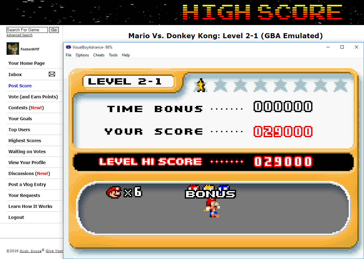 FosterAMF: Mario Vs. Donkey Kong: Level 2-1 (GBA Emulated) 29,000 points on 2016-02-06 17:04:31