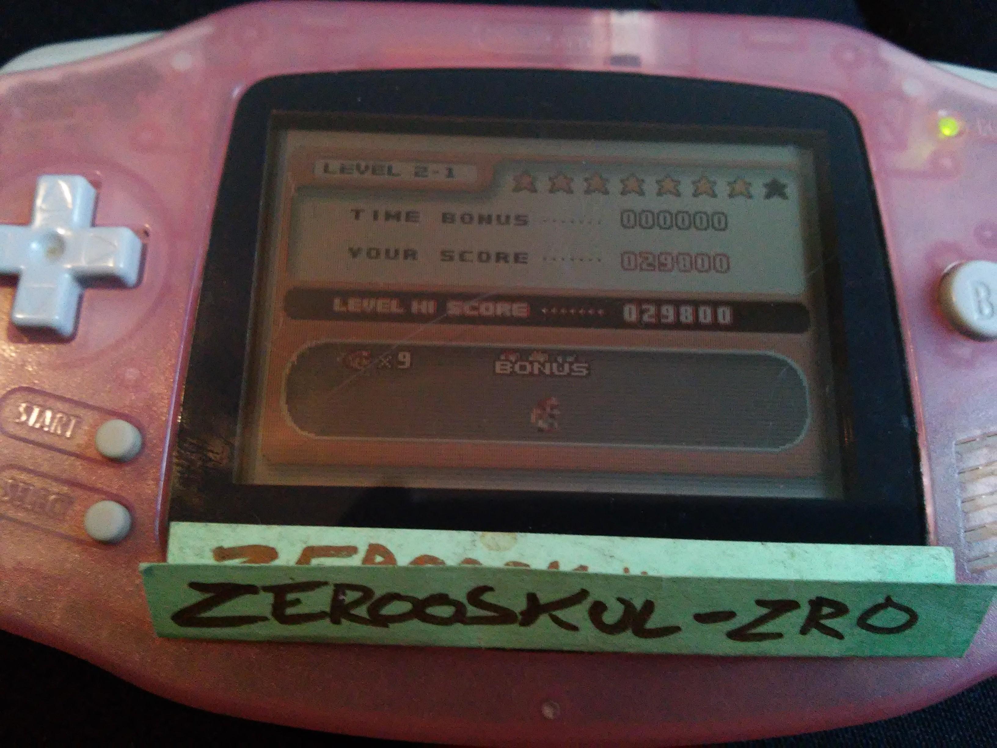 zerooskul: Mario Vs. Donkey Kong: Level 2-1 (GBA) 29,800 points on 2018-09-24 10:44:14