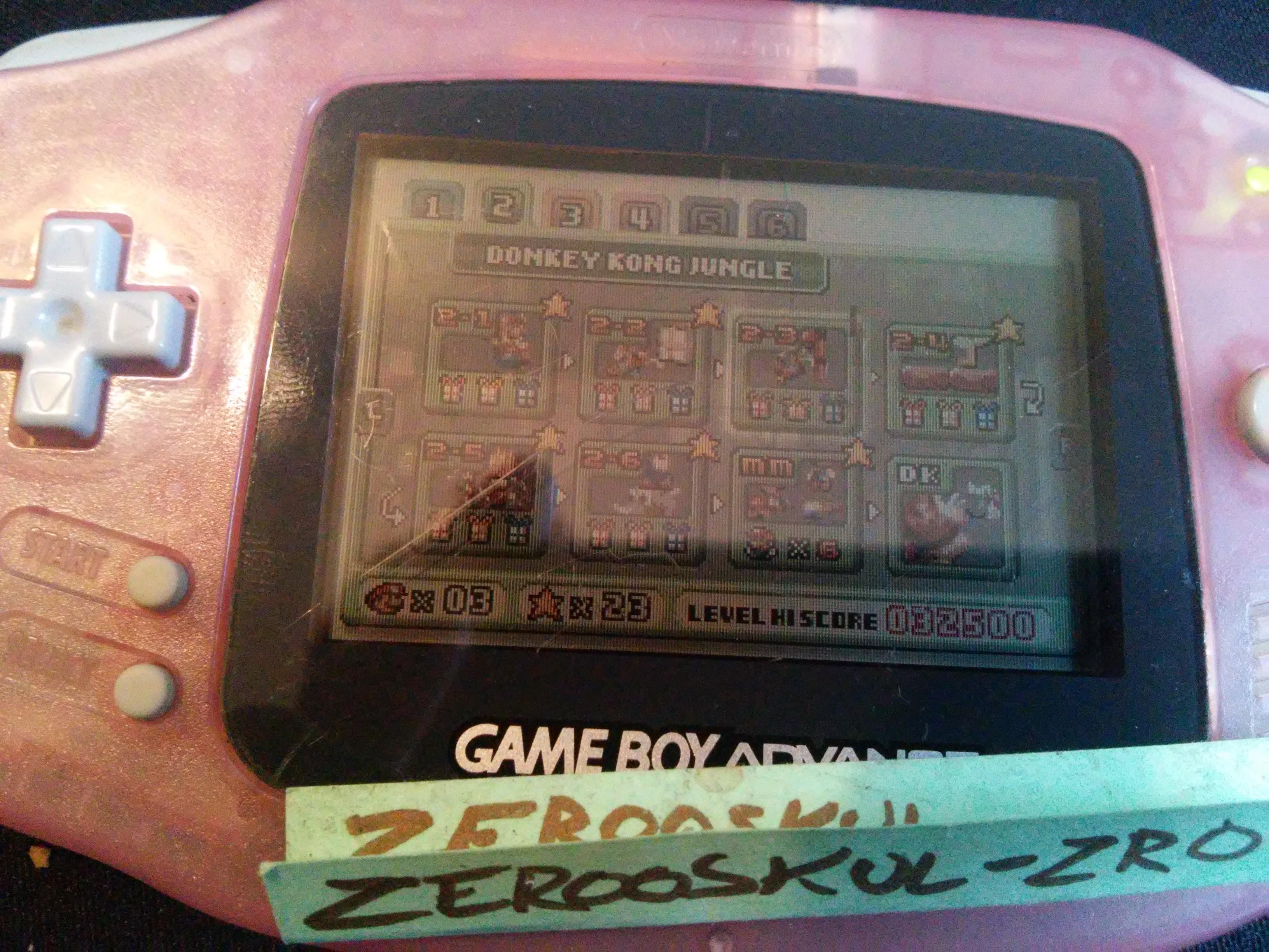 zerooskul: Mario Vs. Donkey Kong: Level 2-3 (GBA) 32,500 points on 2018-09-24 11:08:33