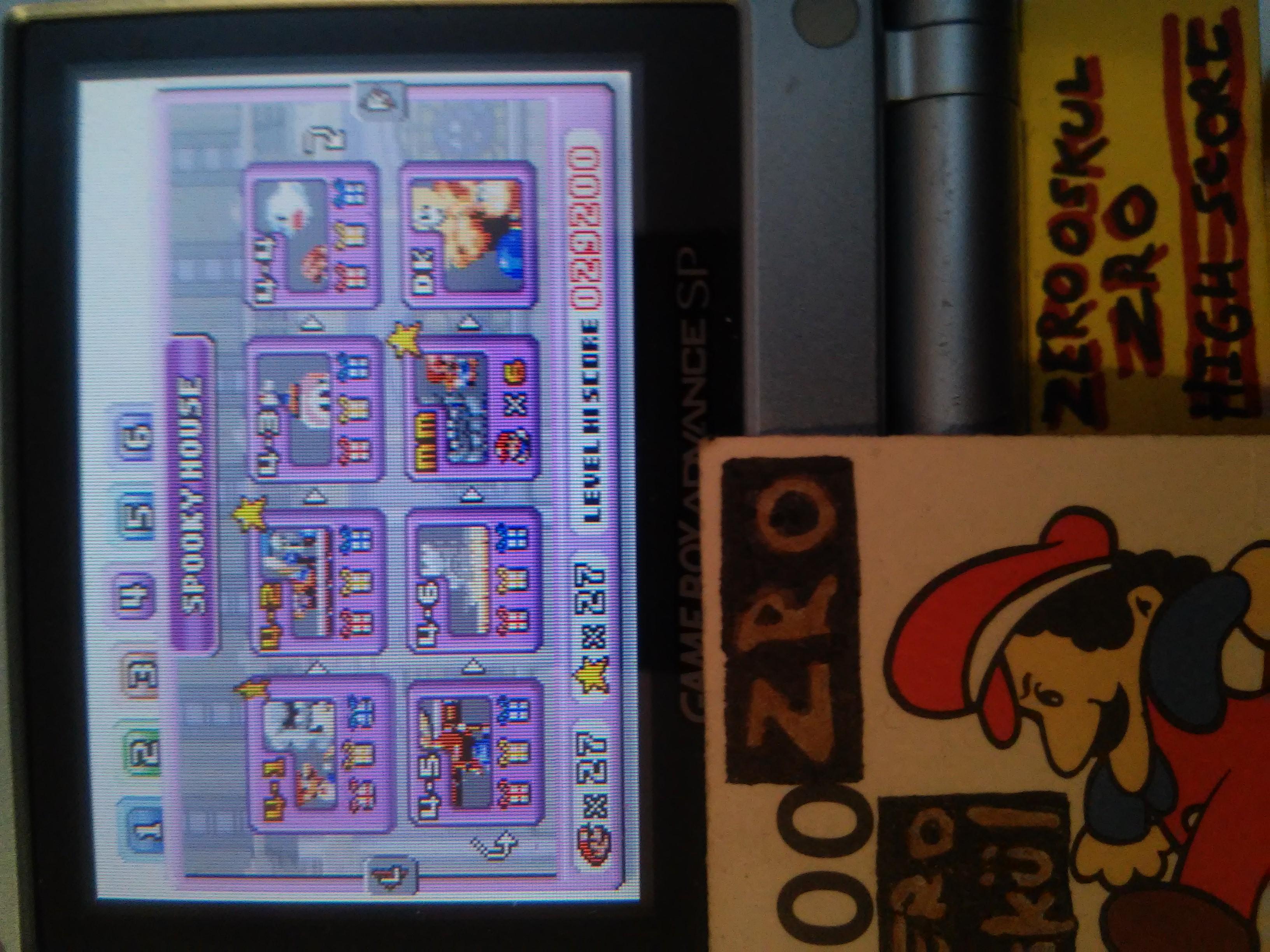 zerooskul: Mario Vs. Donkey Kong: Level 4-1 (GBA) 29,200 points on 2019-01-22 12:31:13