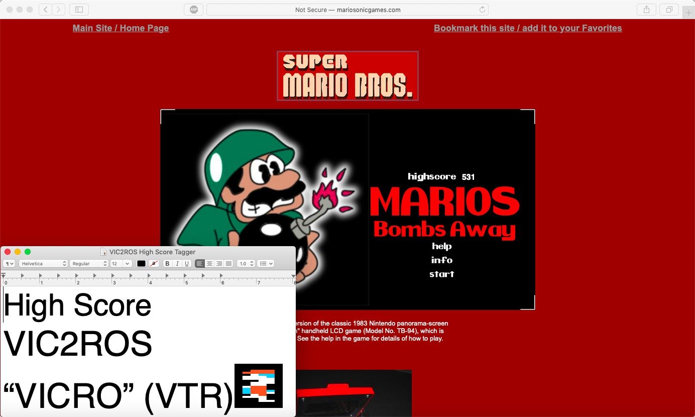 vic2ros: Mario